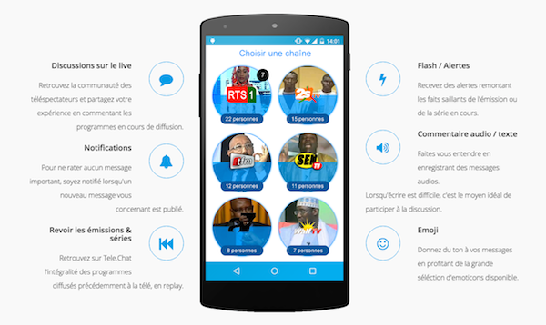 Telechat-Senegal-application