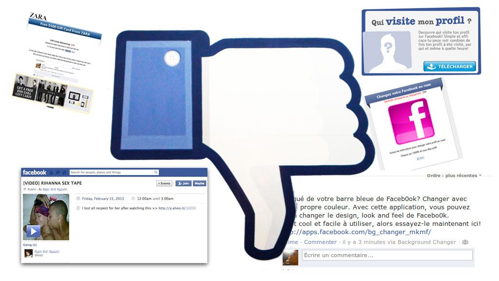 escroquerie sur facebook