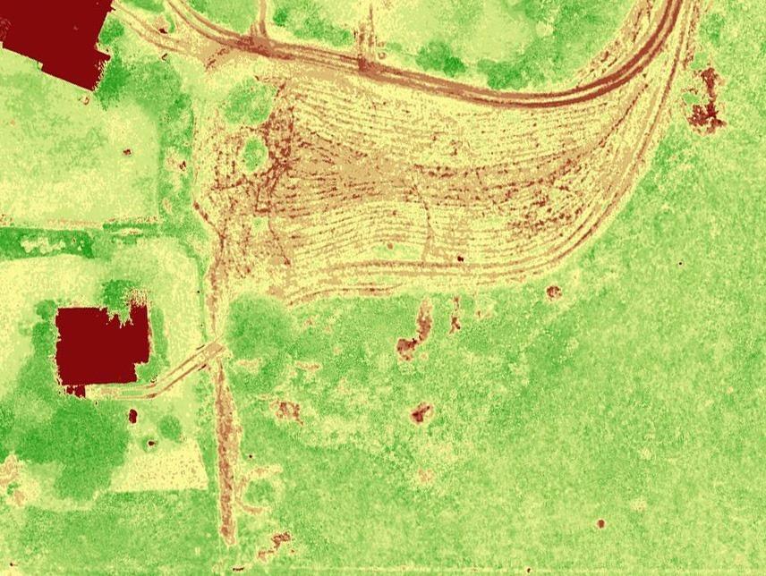 Une ortophoto réalisée par l'équipe de 3Drone Mapping pendant l'étude d'un terrain