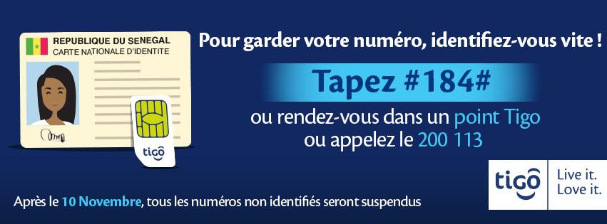 Campagne d'Identification des abonnés avec l'opérateur Tigo