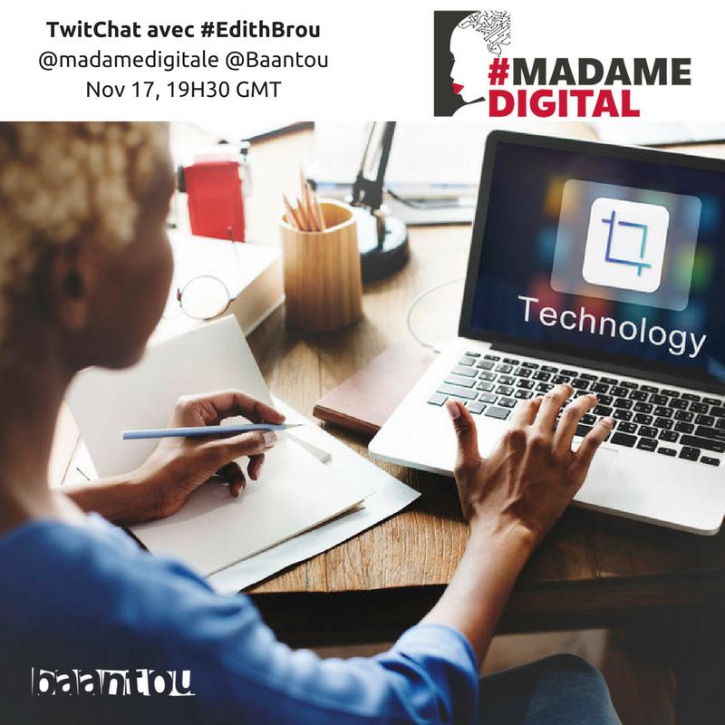 Une affiche du Twitchat avec la blogueuse Edith Bou de la Cote d'ivoire