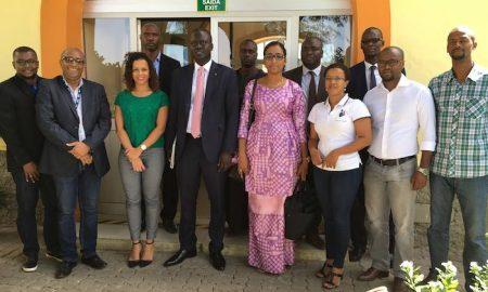 La délégation de l'ADIE en compagnie de celle du Cabo Verde