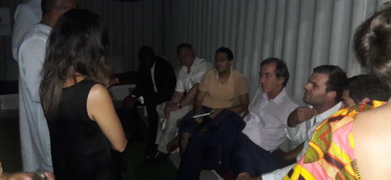 Christophe Bigot, ambassadeur de France au Sénégal en compagnie de quelques acteurs membres de la French Tech Sénégal