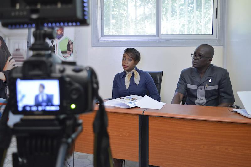 Madame Dominique DHELLO lors de la conférence de presse annonçant le Salon Osiane 2017
