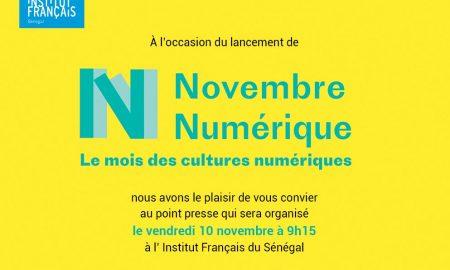 Du 13 au 30 novembre, l'Institut Français organise l'événement Novembre Numérique. Novembre Numérique propose une large palette des cultures numériques sous leurs formes les plus diverses.