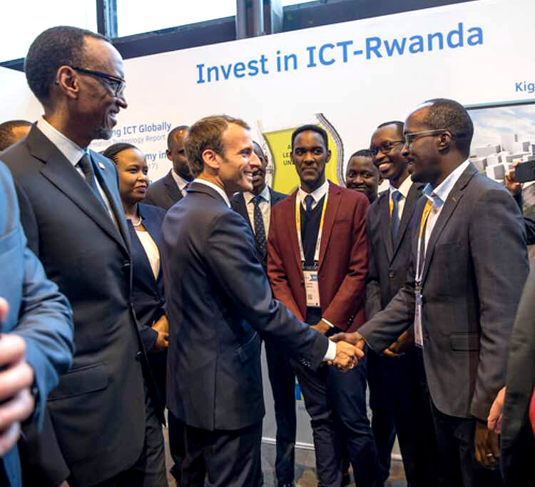macron kagame vivatech paris 2018