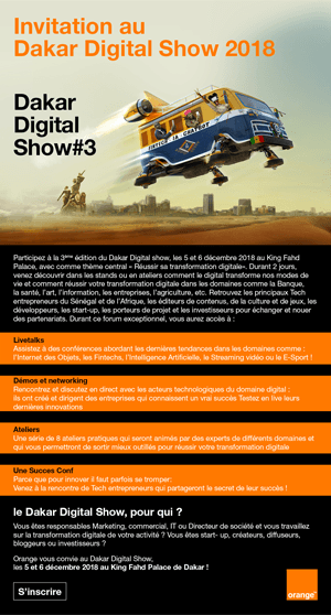 Dakar Digital Show 2018