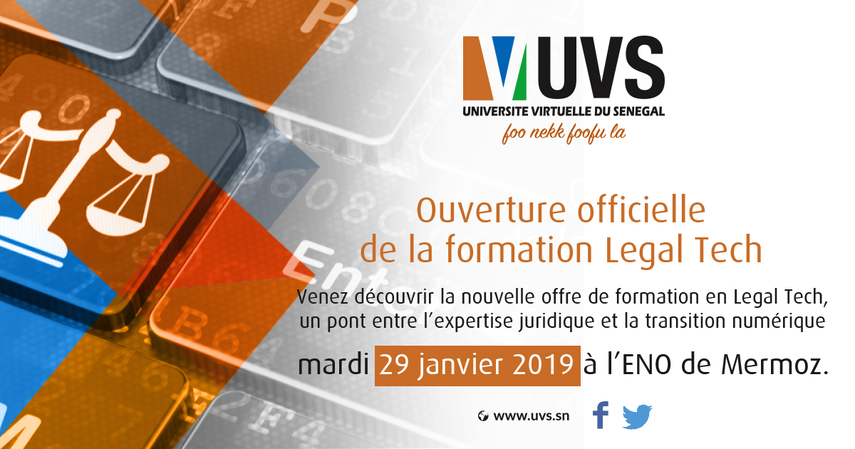 Sénégal- Ouverture officielle de la formation Legaltech à l'UVS