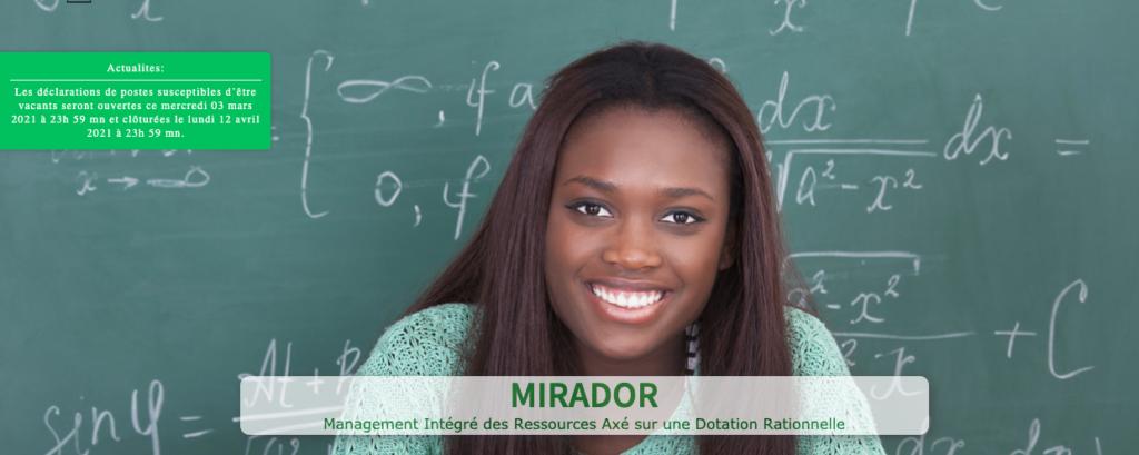 Gestion du personnel enseignant sénégalais : Mirador, l'application en mouvement dans le «Mouvement national 2014″