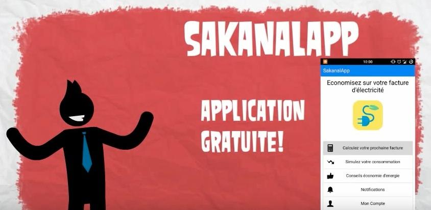 Sakanalapp, l'application  qui vous aide à économiser, gérer votre consommation en énergie