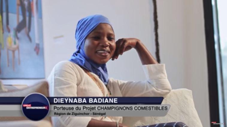 Dieyna Badiane de champignons comestibles a ziguinchor great entrepreneur