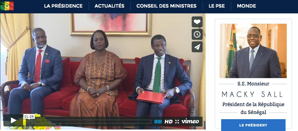 Sénégal: La présidence de la République lance son nouveau site web doté d'une Web TV