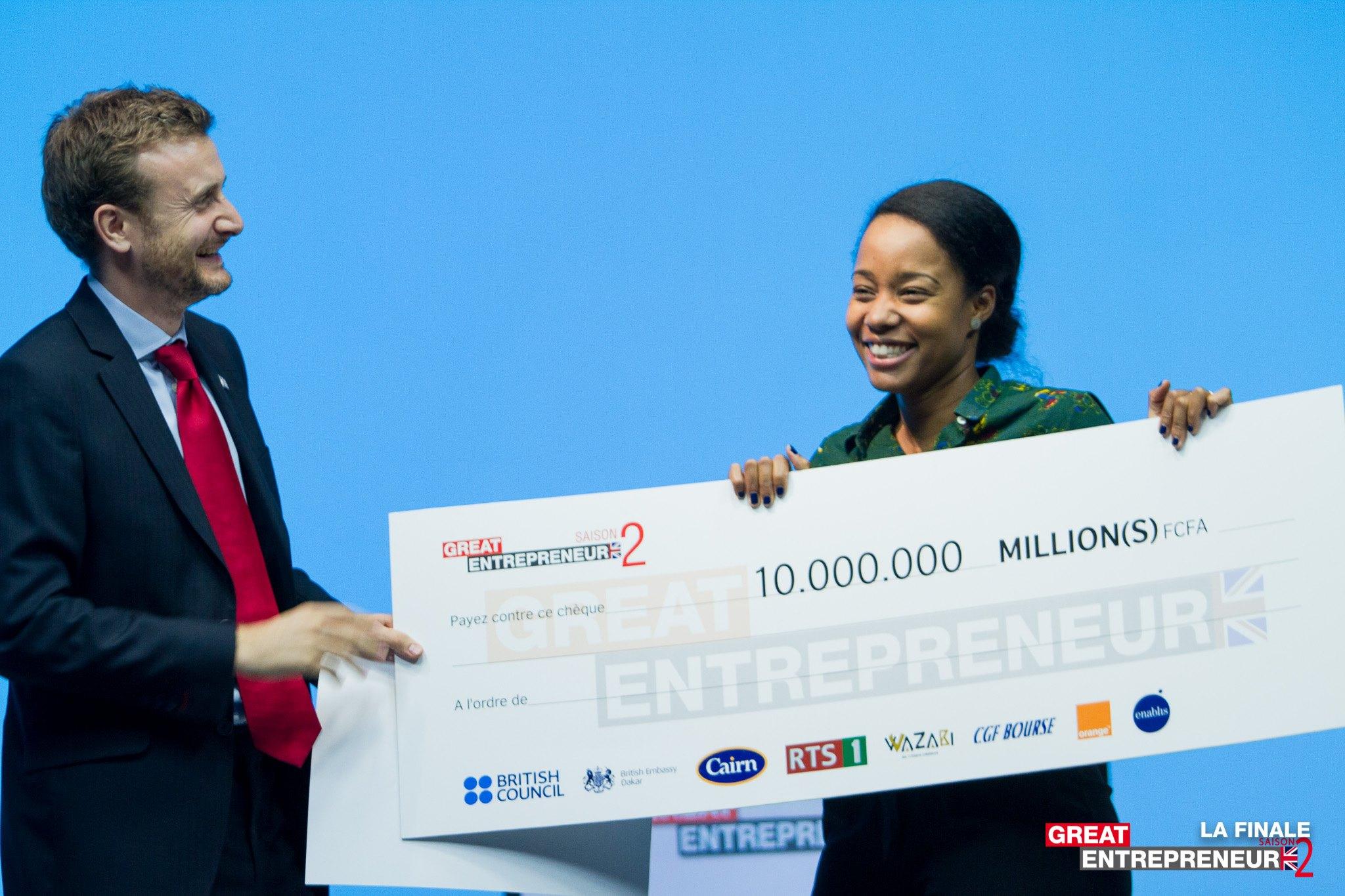 Marième Mbaye de Green Wash lauréate de la 2e édition du Great Entrepreneur
