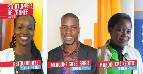 A la découverte des trois lauréats  du Challenge Startupper de l'Année 2016 par Total Sénégal