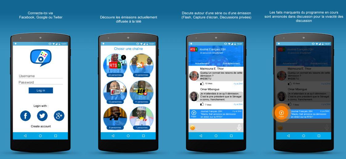 Télé.Chat, une nouvelle application pour vivre  autrement la social TV au Sénégal