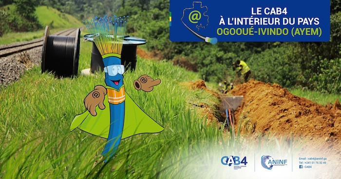 Gabon: bilan satisfaisant de la phase Une du projet de fibre optique CAB4 réalisé à 82%