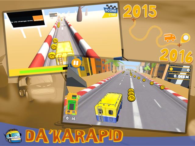 Importante mise à jour du jeu vidéo  Da'karapid disponible sur Android, Windows Phone et iOS !