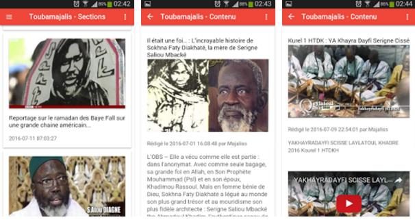 Toubamajalis, une nouvelle application dédiée à la communauté Mouride