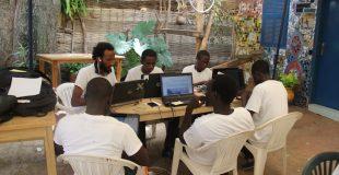 """Un groupe d""""étudiants en plein travail pour le concours agrihack"""