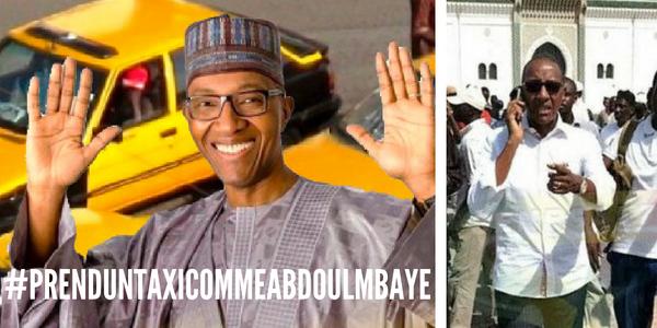 #prenduntaxicommeabdoulmbaye : Quand l'ancien PM devient la risée du web