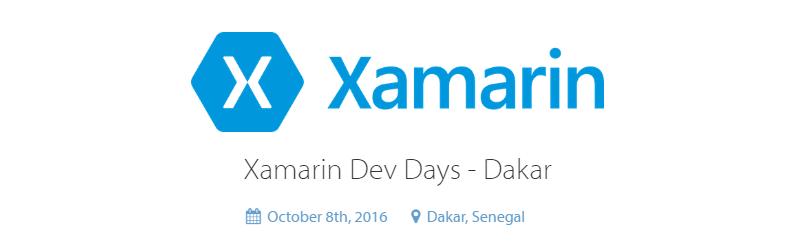 "Participez au 1er   ""Xamarin Dev Days Dakar"" organisé par A2DG"