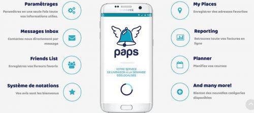 Aperçu des Fonctionnalités de l'Application Paps