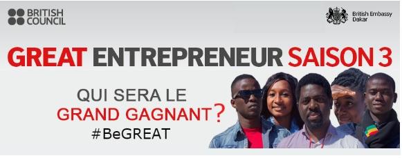 GREAT Entrepreneur : Qui empochera les 10 millions de FCFA de la 3ème saison au Sénégal?