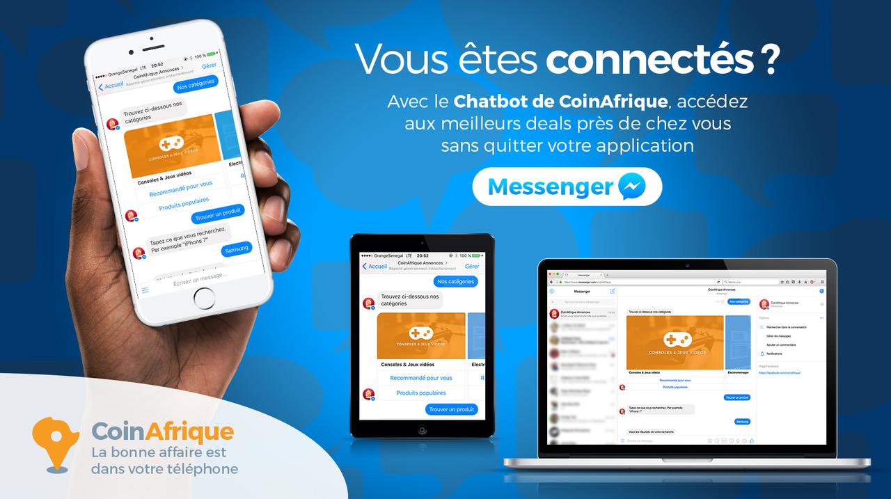 CoinAfrique lance son chatbot sur Facebook Messenger