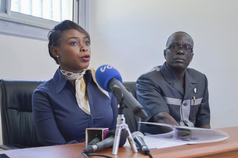 Dominique Dhello, Directrice du Salon Osiane2017 répondant aux questions des journalistes