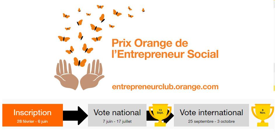 J- 20 pour participer au concours Orange de l'Entrepreneur Social 2017