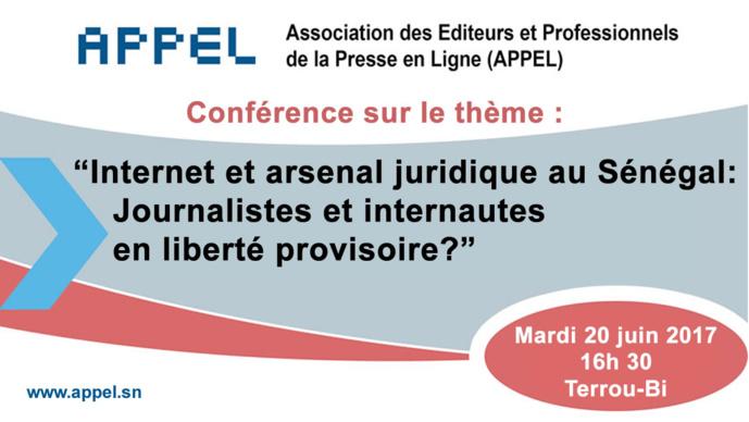 """""""Internet et arsenal juridique au Sénégal: Journalistes et internautes en liberté provisoire?"""""""