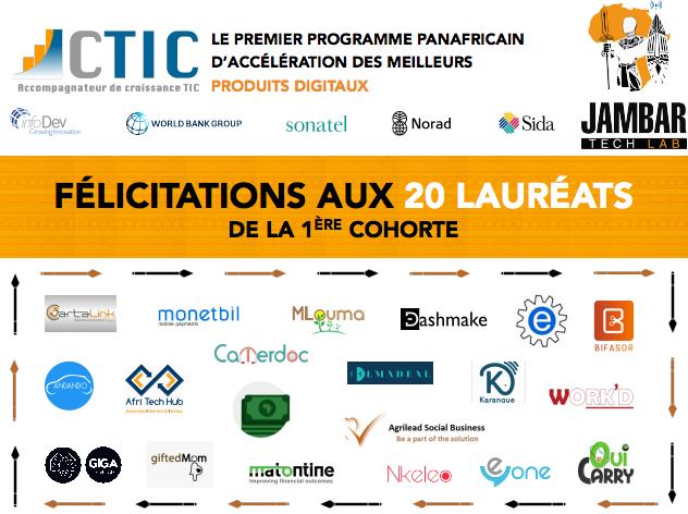 Jambar Tech Lab: CTIC Dakar accueille les entrepreneurs les plus persévérants de l'Afrique francophone