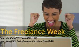 La capitale camerounaise Yaoundé abrite depuis le 30 octobre 2017 l'évènement « The freelance week » jusqu'au 4 novembre 2017. Il s'agit une semaine d'activités organisée par l'espace de co-working Brain booster dans l'objectif d'encourager et de soutenir les jeunes entrepreneurs, les startups et les freelancers. L'idée, c'est de créer les de la création d'une communauté interactive de jeunes professionnels dynamiques, ainsi que de fournir à ces jeunes des outils modernes et efficace pour booster le développement de leurs activités.