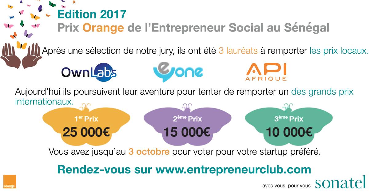 Les trois startups qualifiées pour l'édition 2017