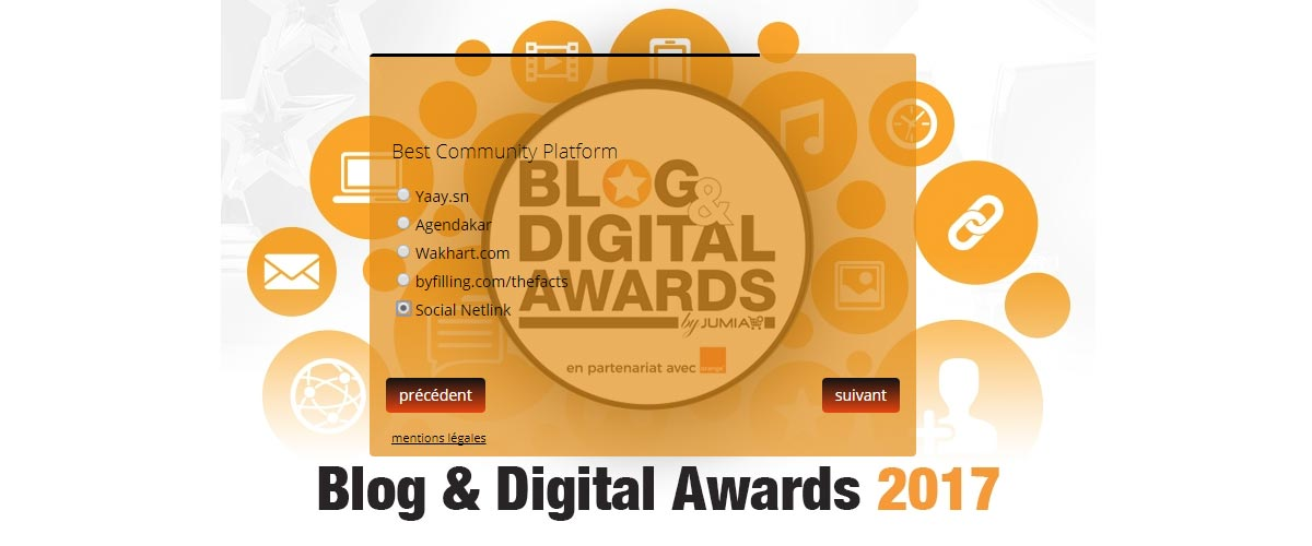 Blog Digital Award 2017 : Socialnetlink.org nominé