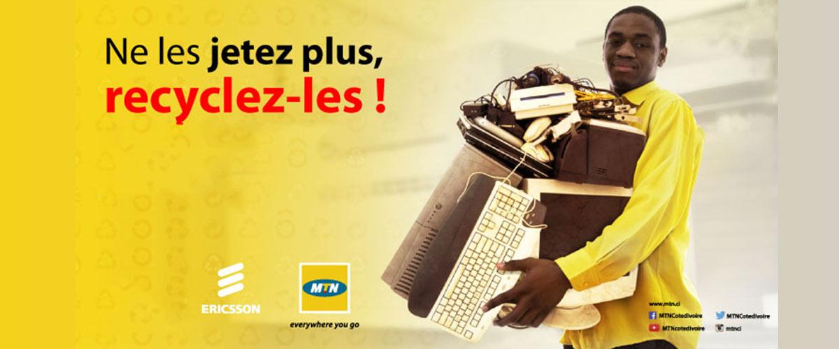53 tonnes de déchets électroniques collectés au Cameroun par MTN et Ericsson