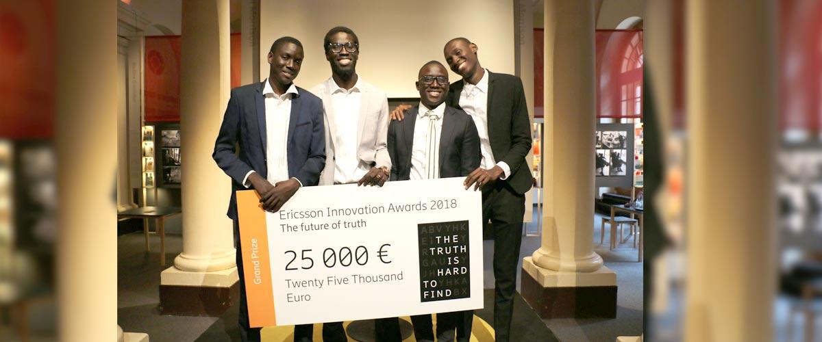 Ericsson Innovation Awards : L'équipe sénégalaise OwnLabs remporte le premier prix