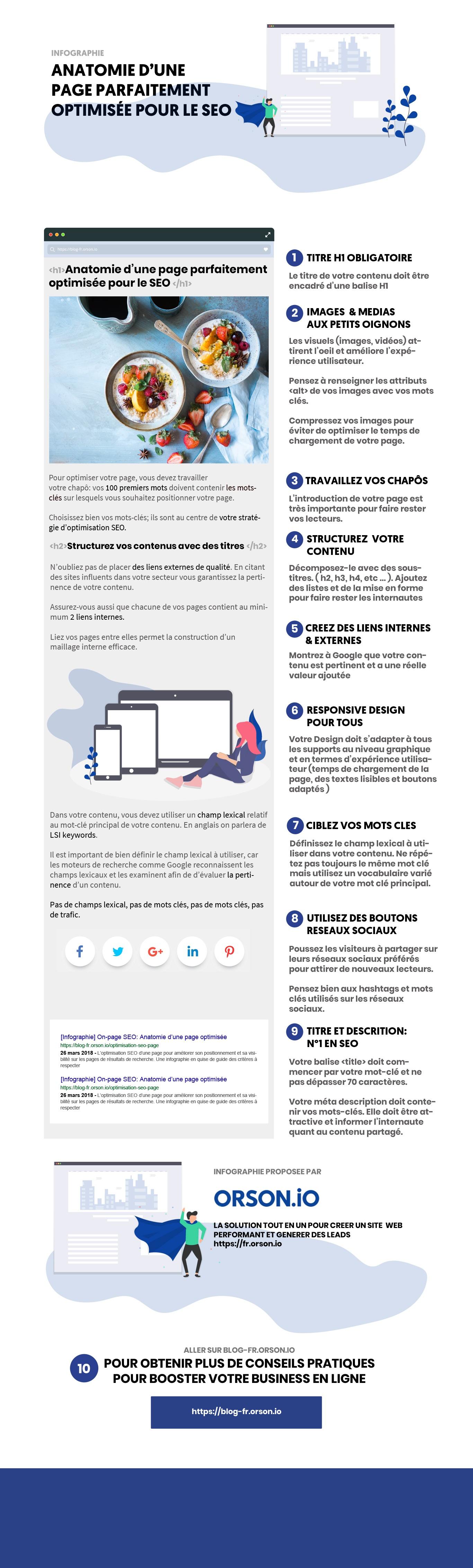 infographie optimiser son seo par orson.io