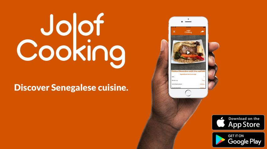 Application Jolof Cooking: découvrir la cuisine sénégalaise en vidéo