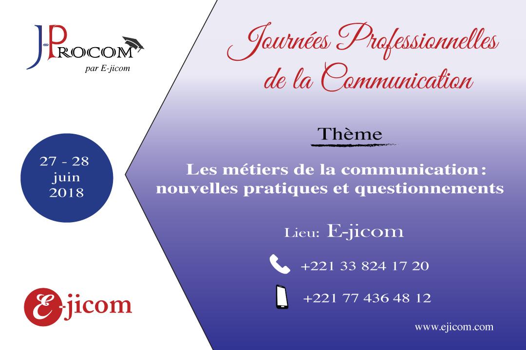 E-jicom lance les Journées Professionnelles de la Communication