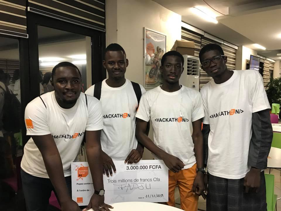 Hackathon Orange 2018 : L'ESP remporte le premier prix avec l'application Fadju