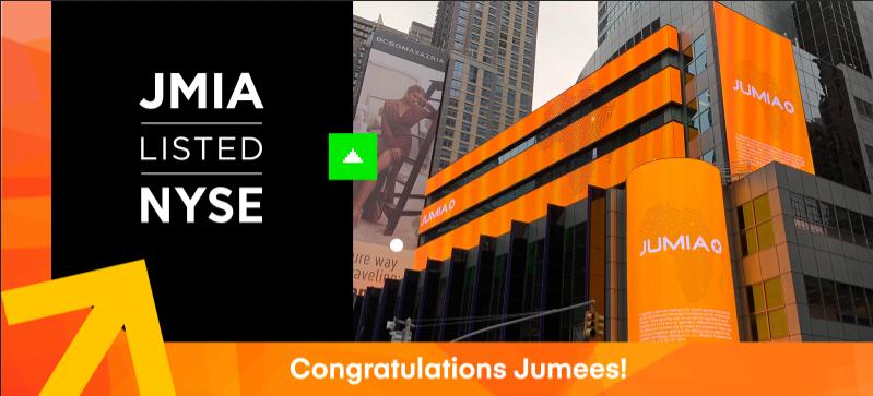 """Jumia, """"l'amazon africain"""" du E-commerce fait son entrée à la bourse de New-York"""
