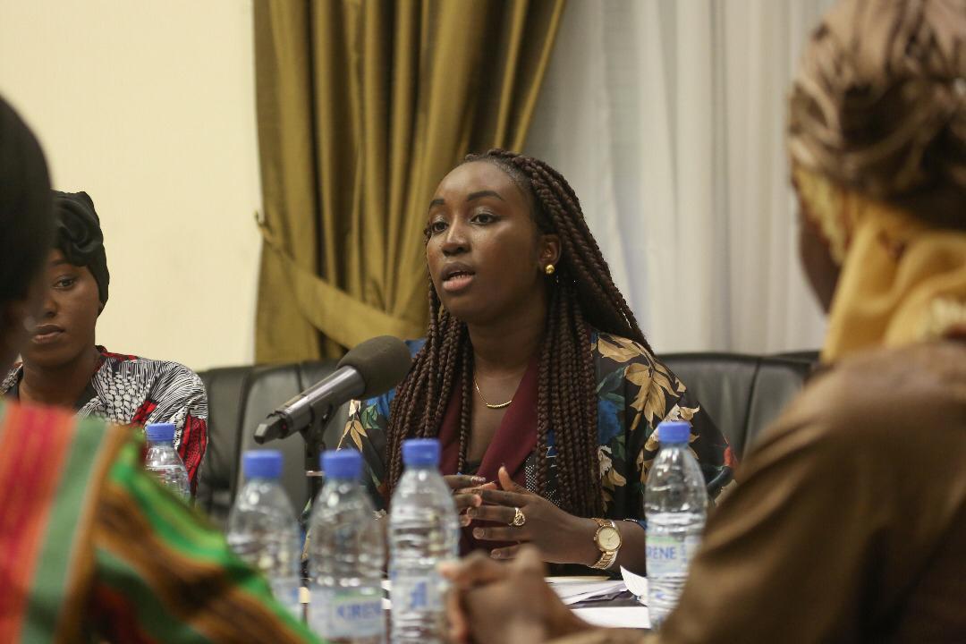Awa Ndiaye créatrice de la Startup Njureel invitée au Palais de la République