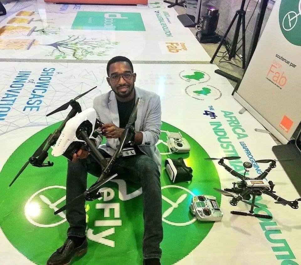 Joseph- Olivier BILEY, cofondateur deWeFly Agri qui fabrique des drones made in Côte- d'Ivoire