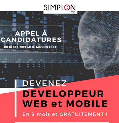 Formation gratuite en développement web et Mobile avec Fabrique Simplon AUF Dakar