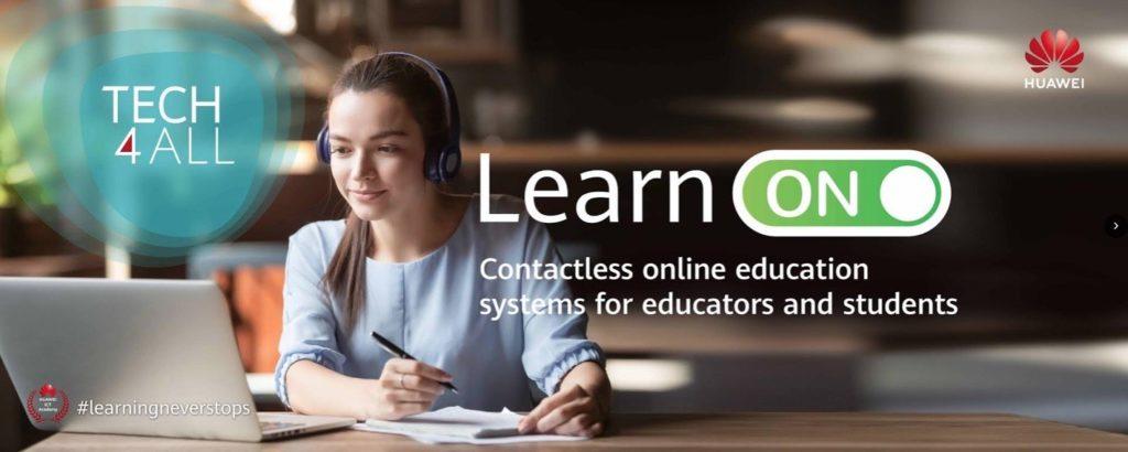 L' ESP en partenariat avec Huawei, face à la pandémie covid-19, avec l'initiative «Learn On Action» sur la plateforme de Huawei Talent Online