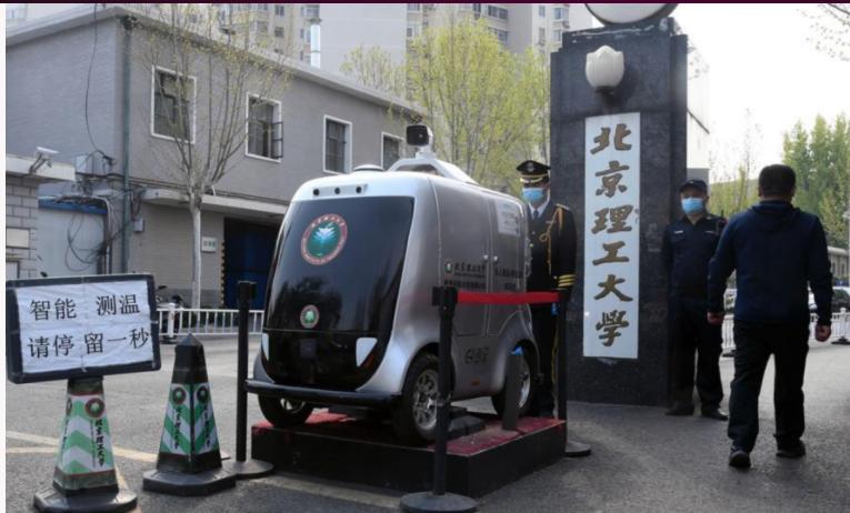 Chine : Une voiture autonome spécialement conçue pour lutter contre la pandémie Covid-19