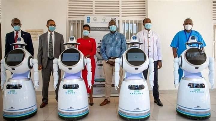 robot contre covid 19 au rwanda