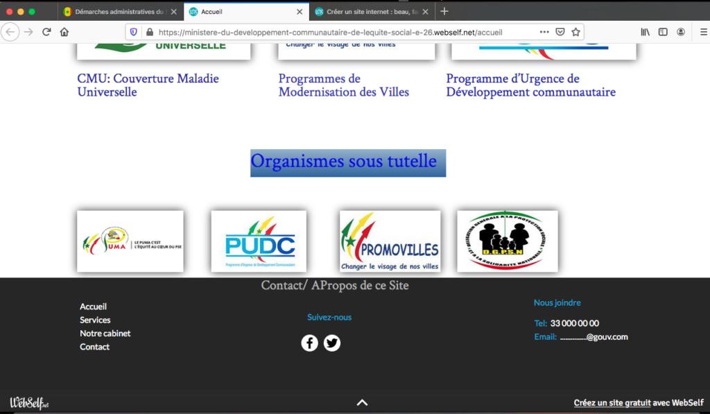 Sénégal: Des internautes indignés par le site web  d'un ministère stratégique…