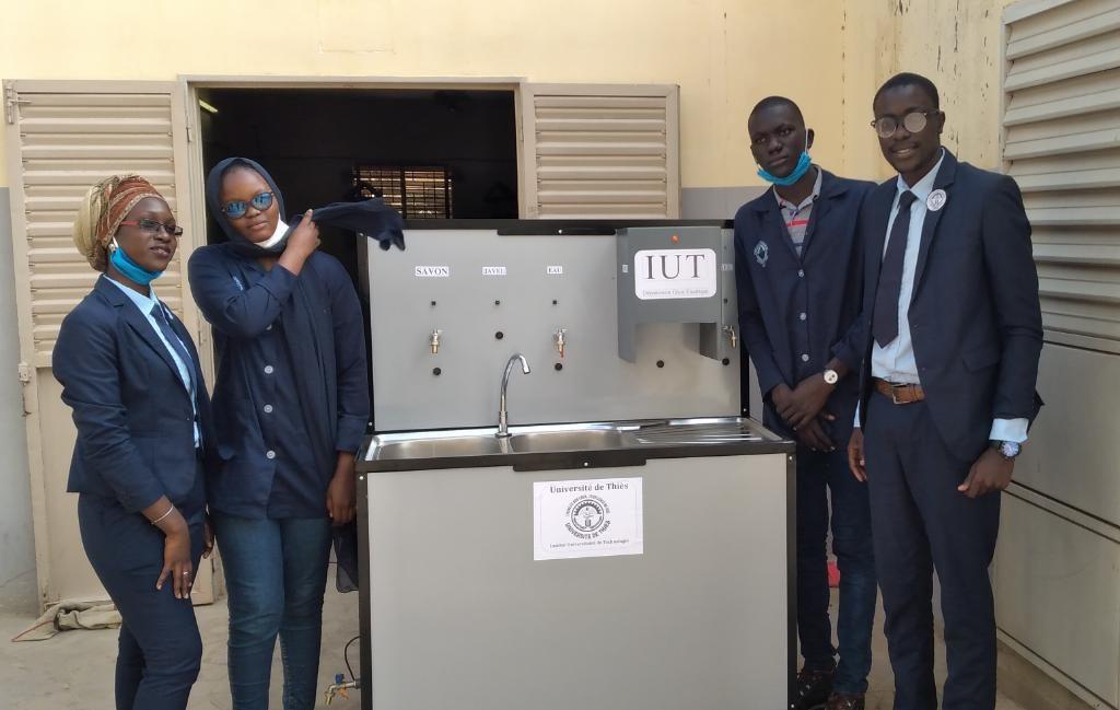 L'IUT de l'Université de Thiès présente officiellement le dispositif autonome de lavage des mains